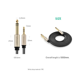 6.35mm to 3.5mm Male Audio Cable - Ugreen