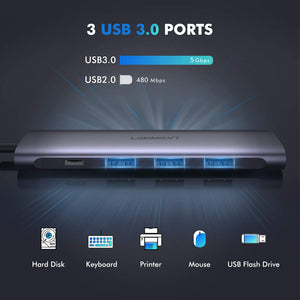 4K HDMI USB C Adapter USB 3.0 Hub - Ugreen