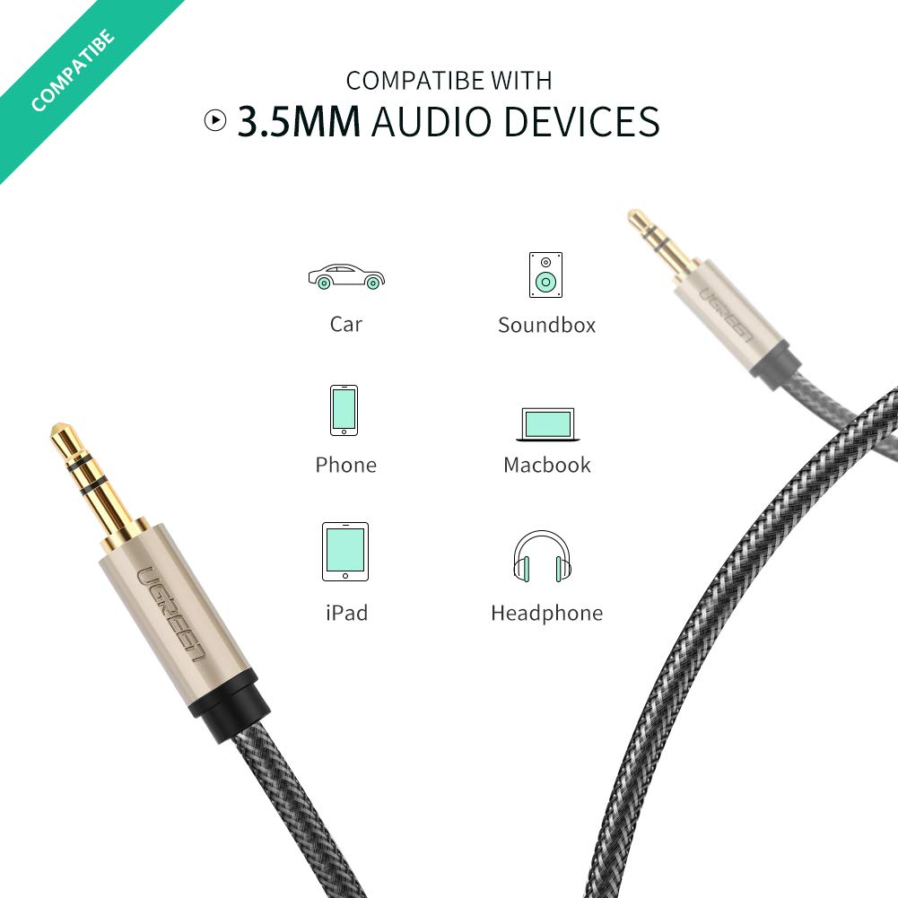 Green Premium Male to Male 3.5mm Auxiliary Aux Stereo Audio Wire Cable Cord-US