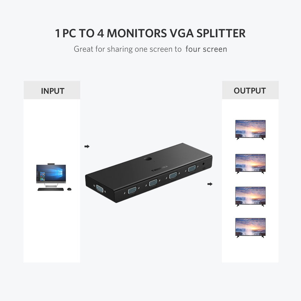 1 in 4 Out VGA Splitter