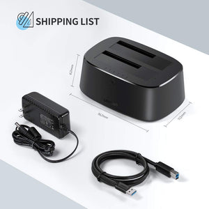 USB 3.0 to Dual Bay Hard Drive Dock