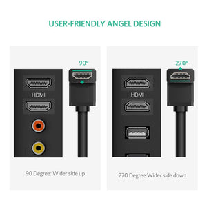 4K Right Angle Elbow Flat HDMI Cable - Ugreen