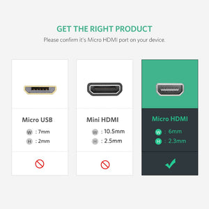 4K Micro HDMI to HDMI Cable - Ugreen