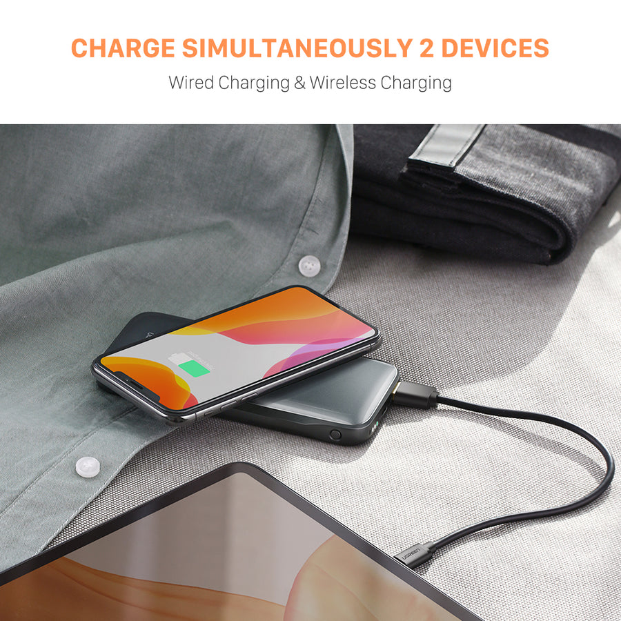 10000mAh Qi Wireless Power Bank