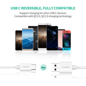 UGREEN USB C Cable 5A Huawei Supercharge Type C to USB A Quick Charging Fast Charger for Huawei Mate 20 Pro Mate 20 X Mate 10 9 Pro P20 Lite P10, Compatible with Samsung S10 S9 S8 Plus Galaxy Note 9 8 - Ugreen
