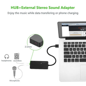 USB 3.0 Hub External Audio Adapter