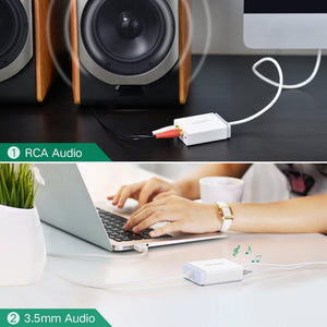 3.5mm 2RCA USB External Sound Card - Ugreen