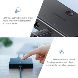 2 In 1 Out USB 2.0 Sharing Switch - Ugreen
