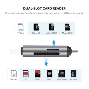 2 in 1 USB 3.0 SD Card Reader - Ugreen