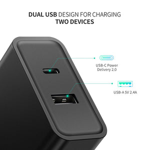 30W Dual USB Wall Charger