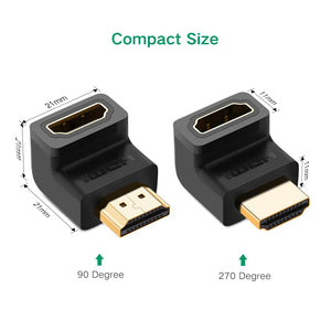 90 and 270 Degree HDMI Connector - Ugreen