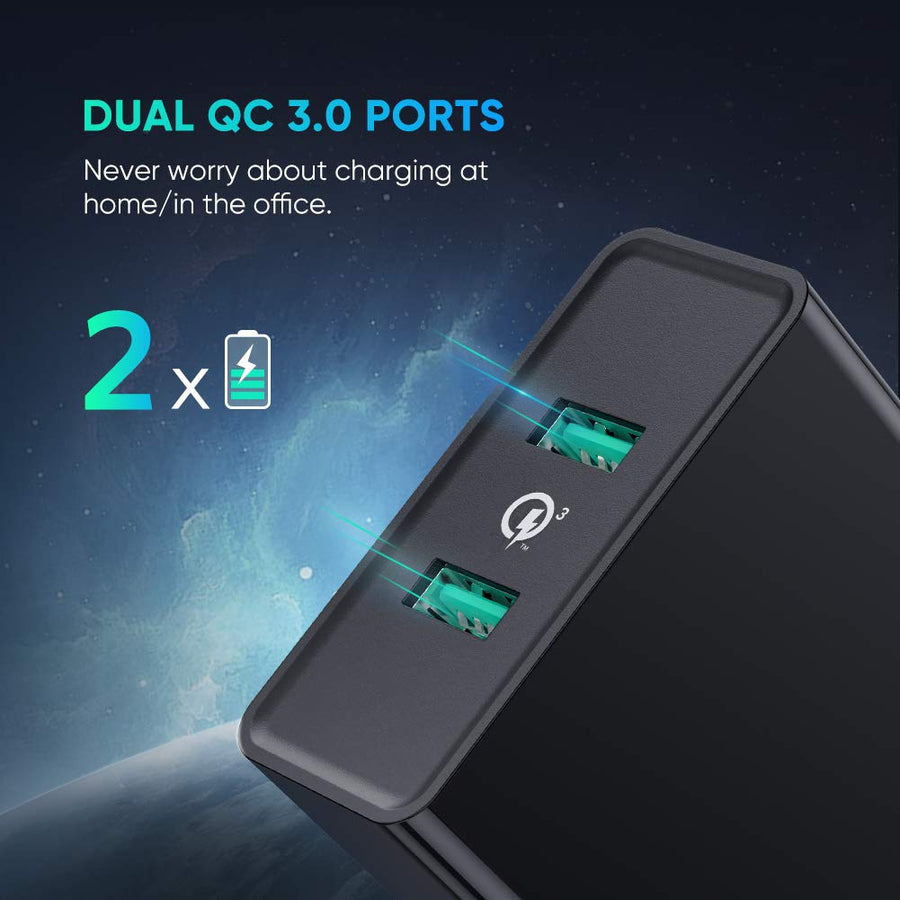 2-Port QC 3.0 USB Wall Charger - Ugreen