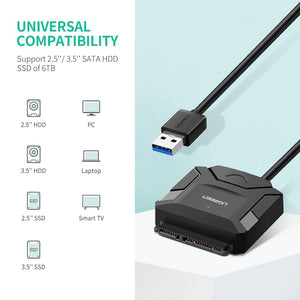 USB 3.0 to SATA III Adapter Cable