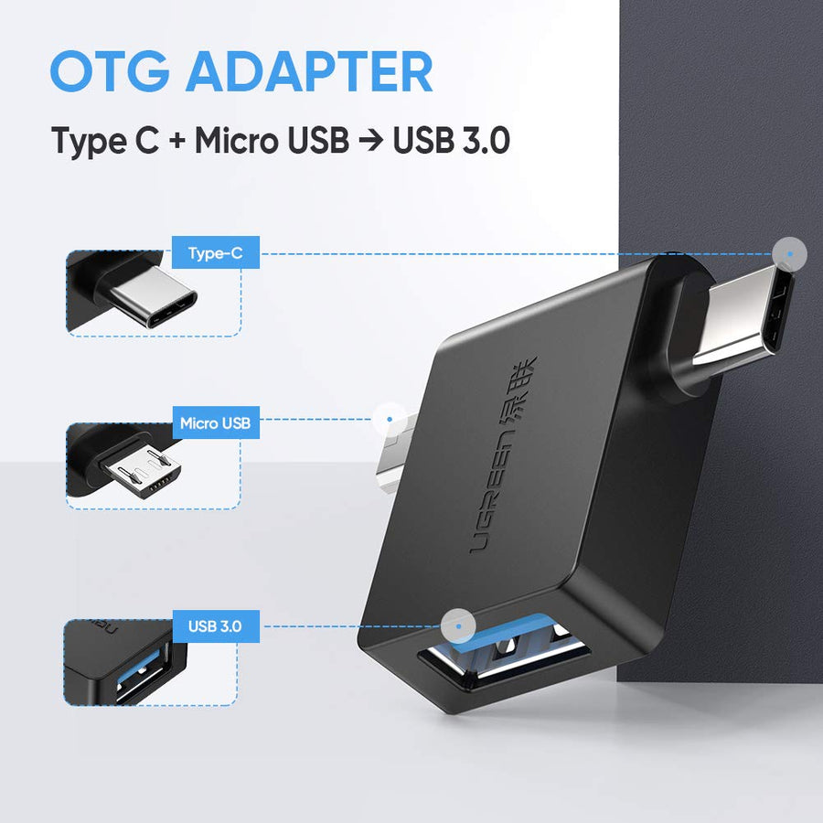 2-in-1 USB-C Micro USB OTG Adapter - Ugreen