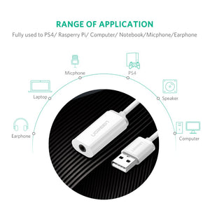 USB External Sound Card Adapter