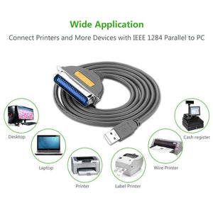 USB to IEEE1284 CN36 Cable