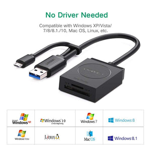 2 in 1 OTG USB 3.0 Card Reader - Ugreen