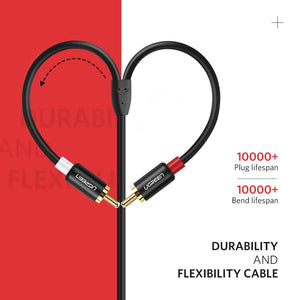 3.5mm to 2RCA Male Audio Cable - Ugreen
