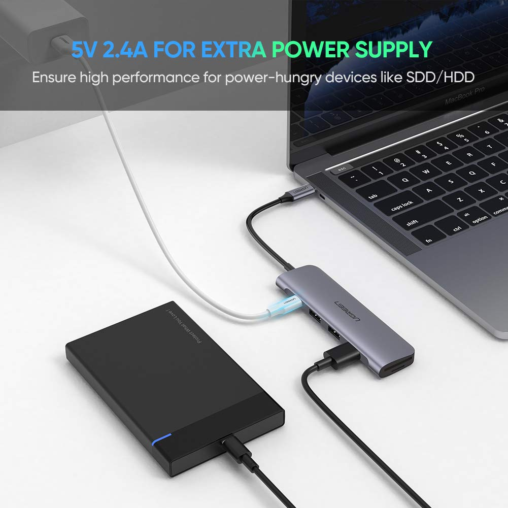 3 Port Type C USB 3.1 OTG Adapter HUB Cable for Macbook Chromebook Samsung S9 S8