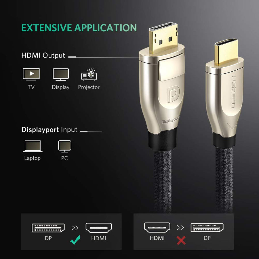 4K UHD Displayport to HDMI Cable 6FT - Ugreen
