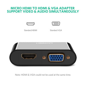 Micro HDMI to HDMI VGA Adapter - Ugreen