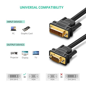 1080P FHD DVI I to VGA Cable - Ugreen