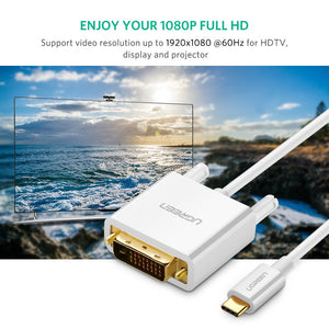 1080P USB C to DVI Video Adapter