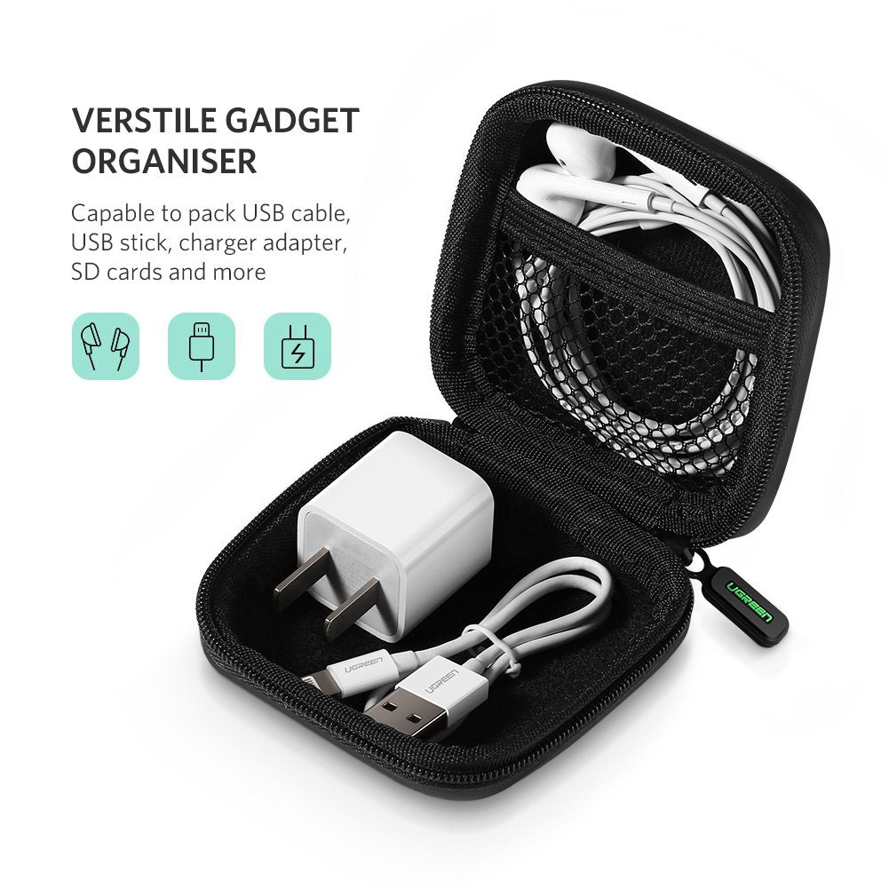 Protective Travel Carrying Case Storage Bag For Headset Earphone Earbuds MP3