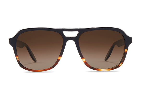 Raven Tortoise Gradient / Old English Polarized (AR)