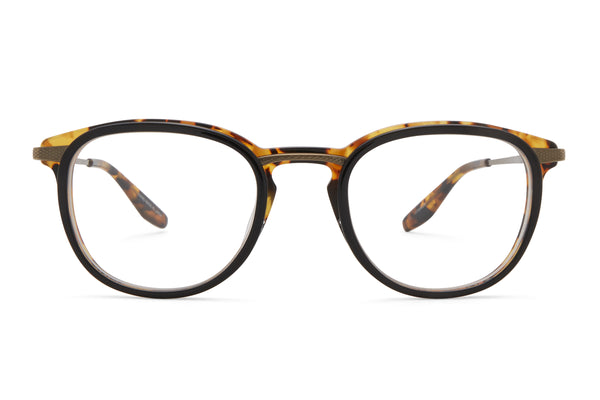 Black Amber Tortoise / Antique Gold