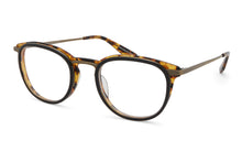 Load image into Gallery viewer, Black Amber Tortoise / Antique Gold