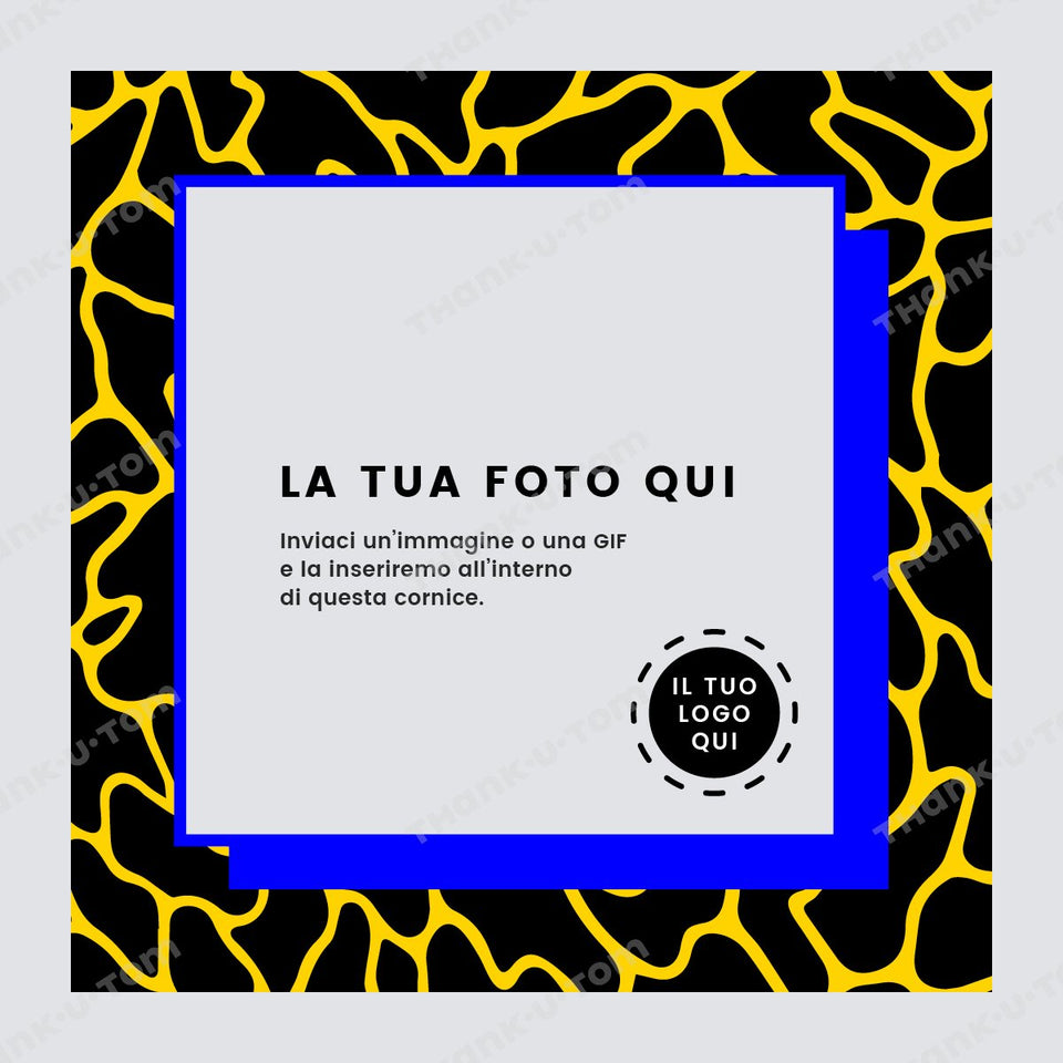T34_Spotted_Frame_Yellow_01-Thank u Tom-Post per Instagram; Cornice Grafica Fashion