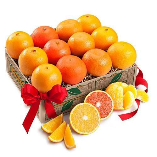 Orange Quartet (Shipping Included) Gift Baskets Parkesdale Market