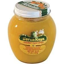 Seven Keys Coconut Toast Spread - 6 pack (16 ounces) Preserves Seven Keys
