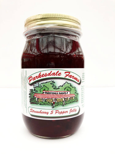 Strawberry Five Pepper Jelly - 3 pack Preserves Parkesdale