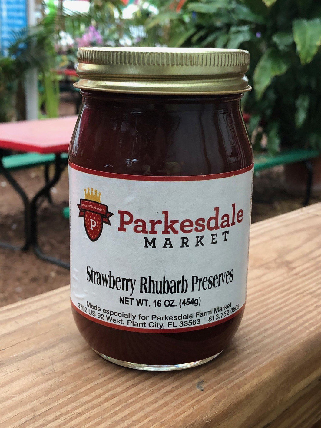 Strawberry Rhubarb Preserves - 3 pack Preserves Parkesdale Market