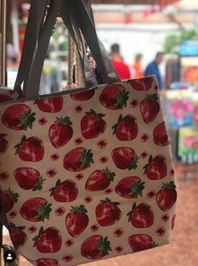 Strawberry Tote Carry-All Bag Strawberry Bag Parkesdale