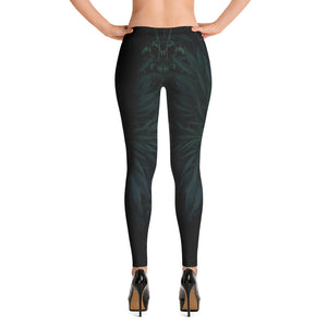 black Leggings with leaves inside