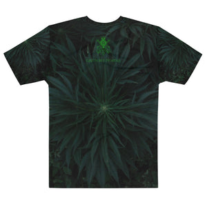 Green Canna Cross Loose Tee