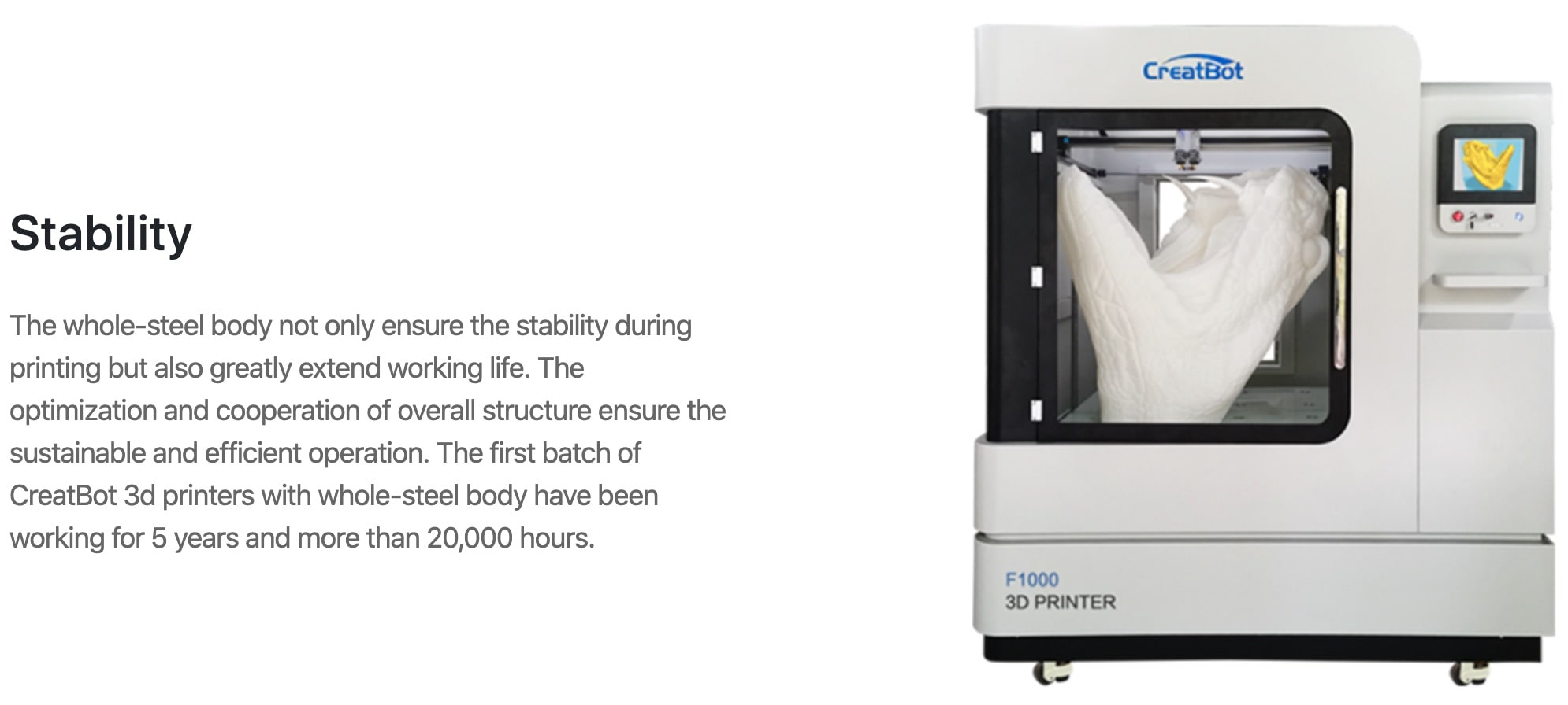CreatBot F1000 3D Printer Description Features 5