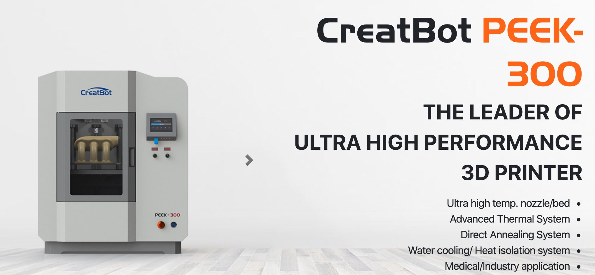 CreatBot PEEK-300 Ultra High-Temperature PEEK ULTEM 3D Printer Description 1
