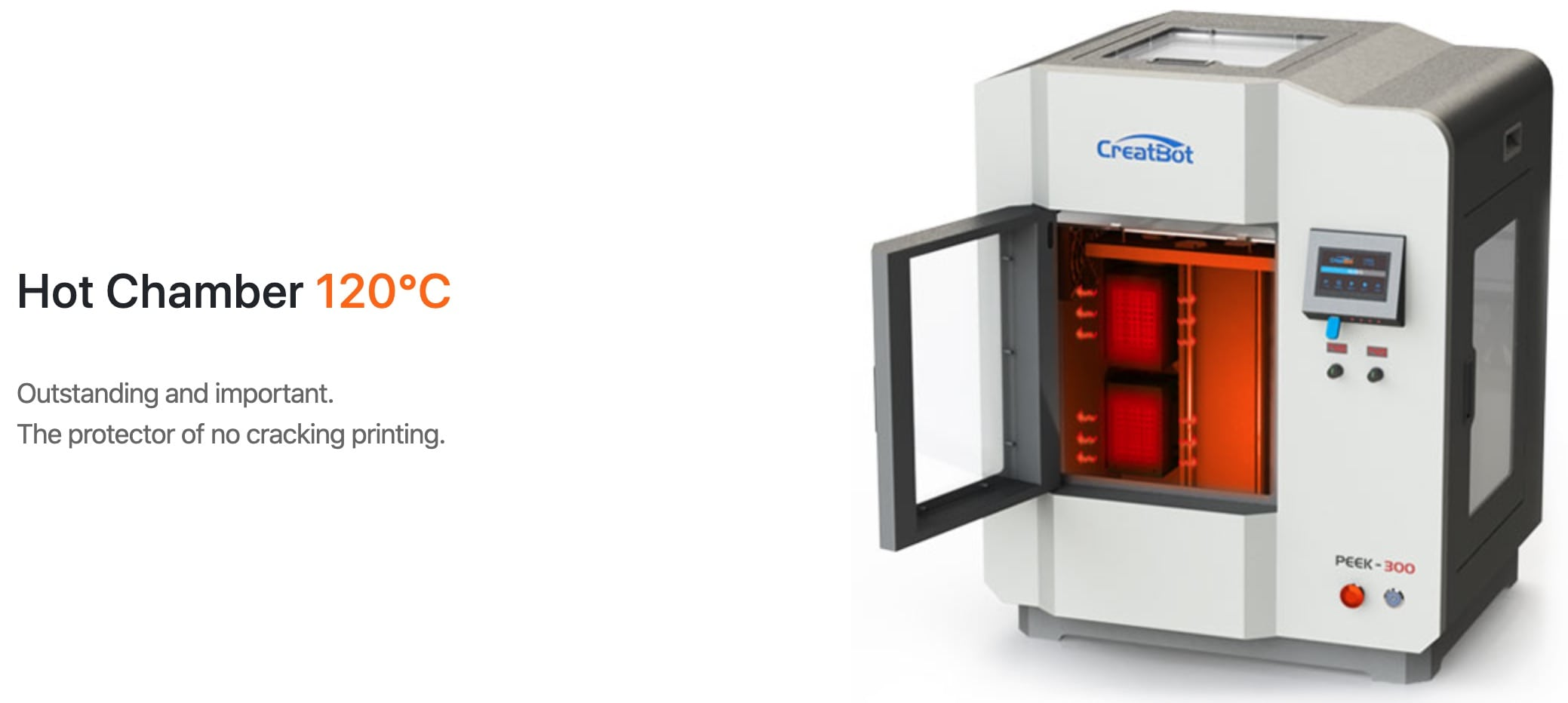 CreatBot PEEK-300 Ultra High-Temperature PEEK ULTEM 3D Printer Description 9