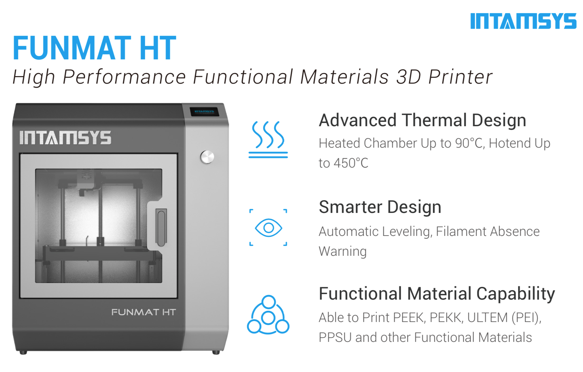 Intamsys Funmat HT 3D Printer Description 2