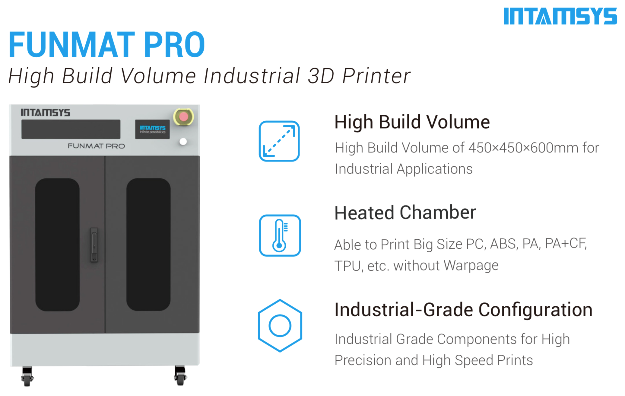 Intamsys Funmat PRO 3D Printer Description 1