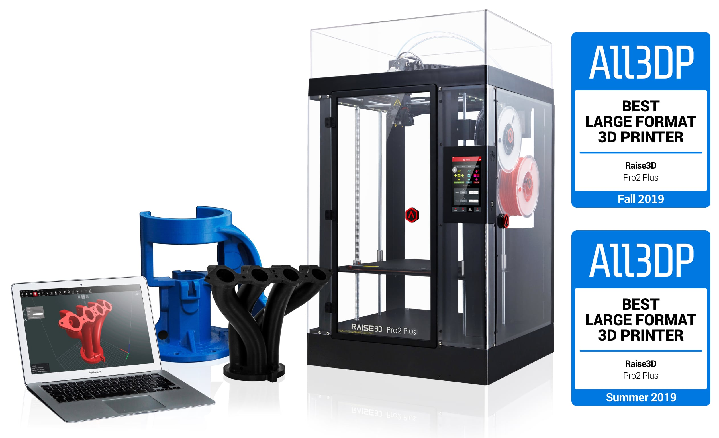 Raise3D Pro2 Plus 3D Printer Awards Winning Banner
