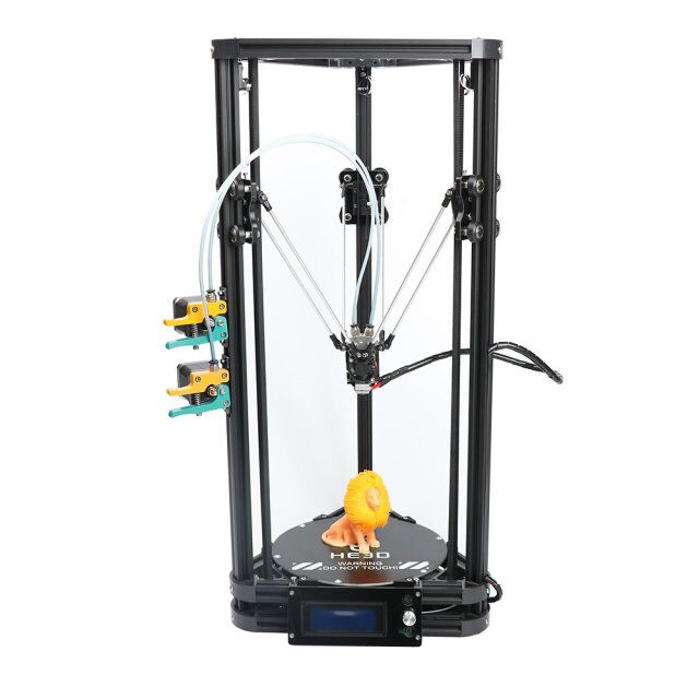 HE3D K200 Auto Leveling Single / Dual Extruder Delta 3D Printer Kit With Heat Bed - 3D Printers Depot