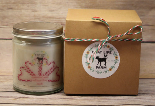 Scent of The season - Peppermint Vanilla Handcrafted soy candle