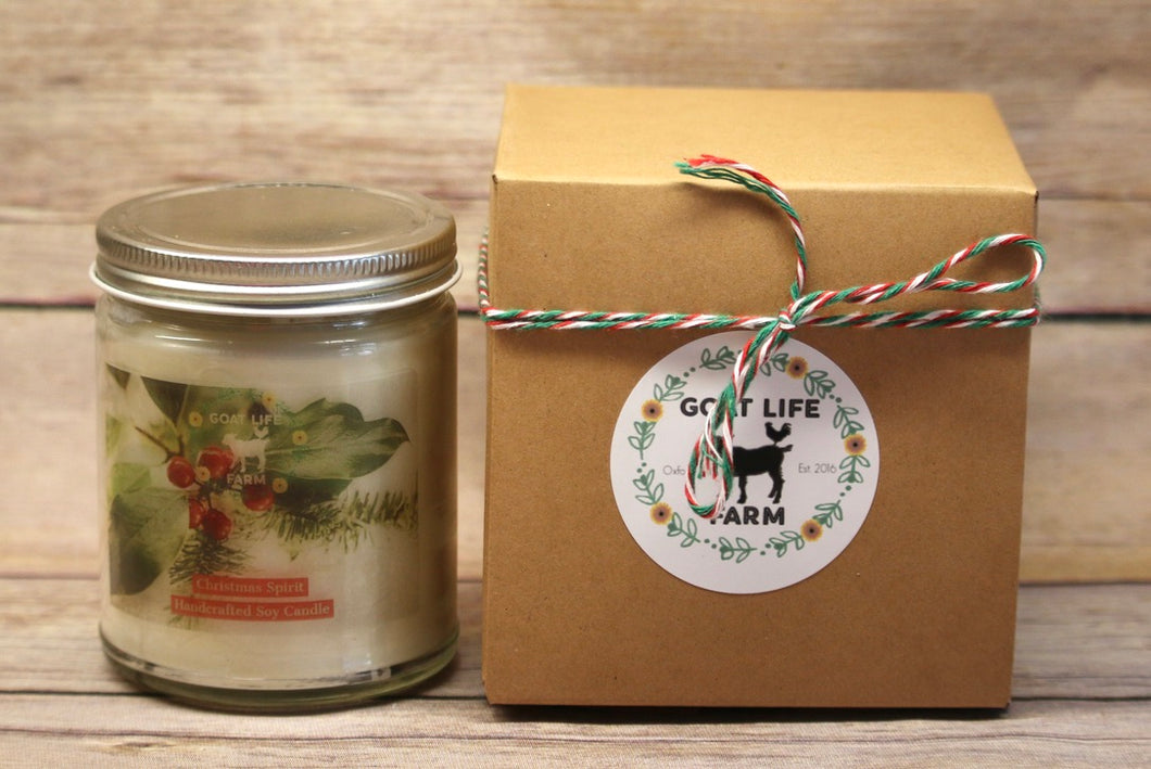 Holiday Soy Candle - Christmas Spirit
