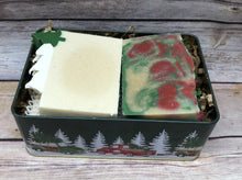Load image into Gallery viewer, Christmas Collection Soap tin - Winter Wonderland