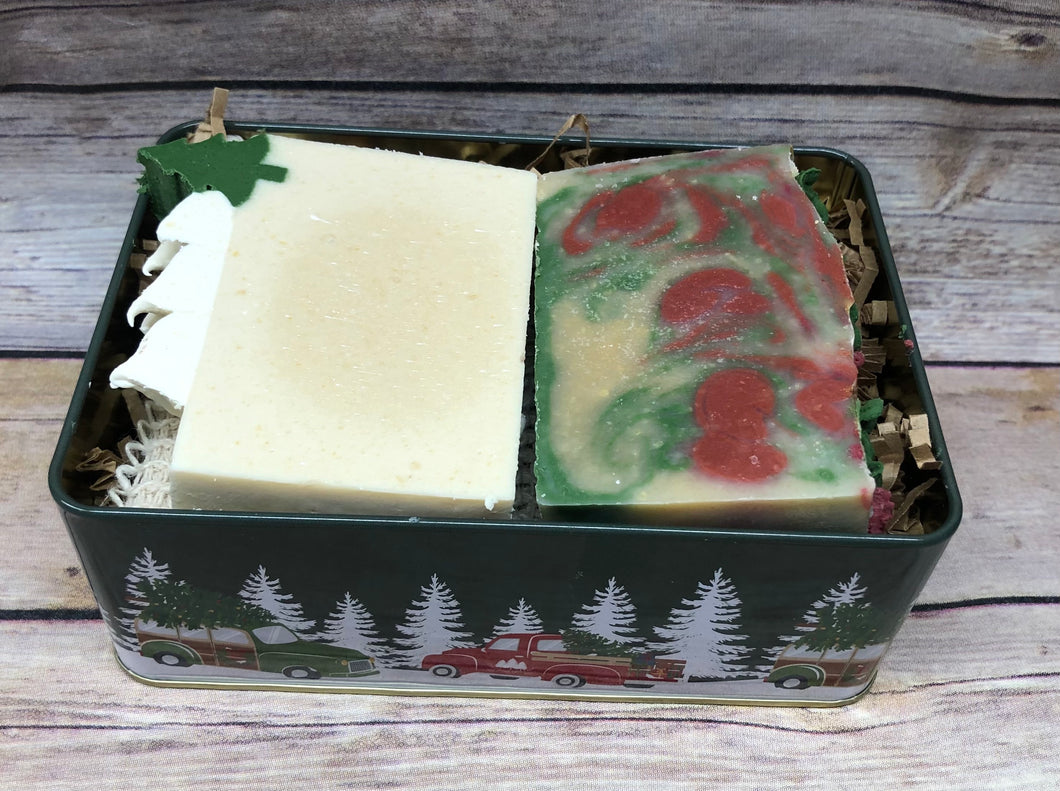 Christmas Collection Soap tin - Winter Wonderland